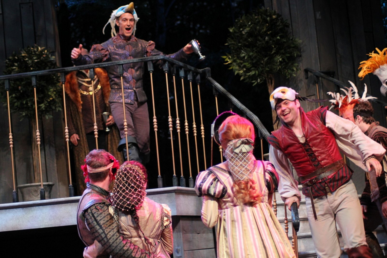 James Ridge, Nate Burger and others in Romeo and Juliet, 2014.