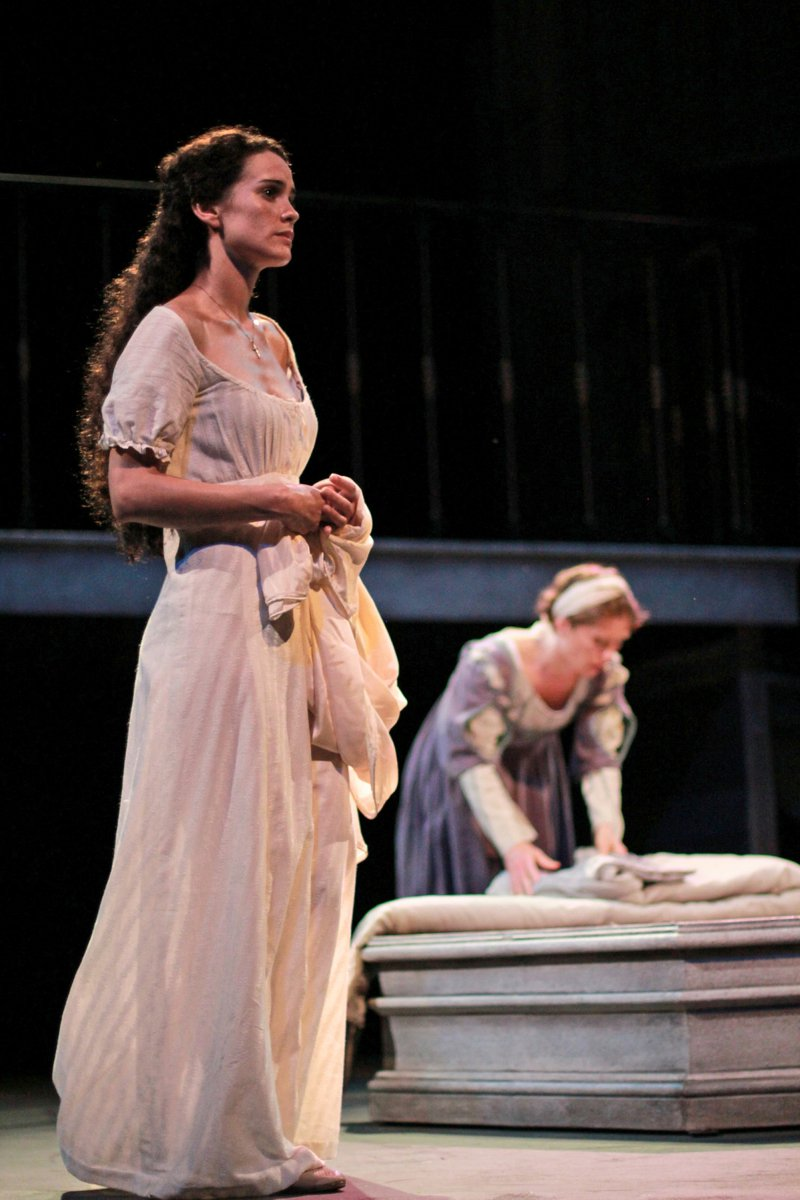 Melisa Pereyra and Colleen Madden in Romeo and Juliet, 2014.