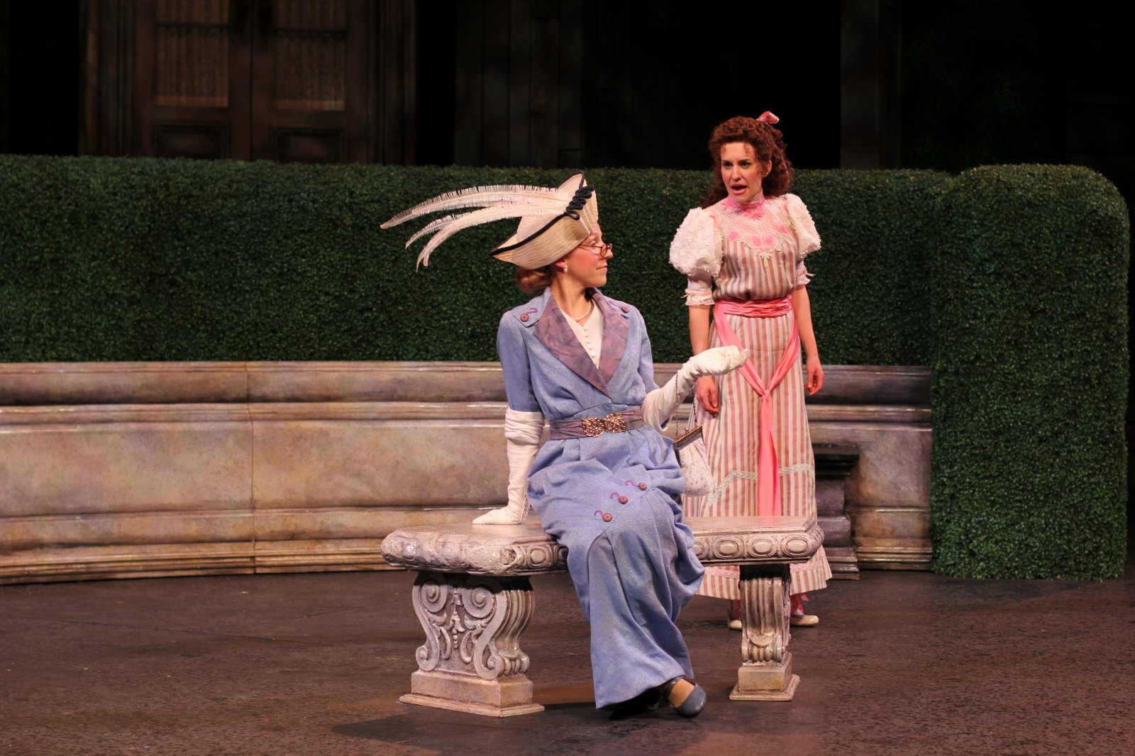 Cristina Panfilio and Kelsey Brennan in The Importance of Being Earnest, 2014.