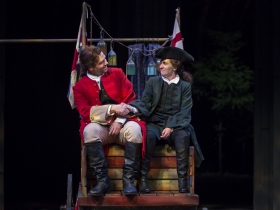 Nate Burger & Kelsey Brennan, The Recruiting Officer, 2018. Photo by Liz Lauren.