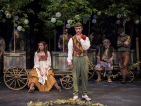Emily Daly & Marcus Truschinski (foreground) , As You Like It, 2018.