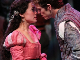 Melisa Pereyra and Christopher Sheard in Romeo and Juliet, 2014.