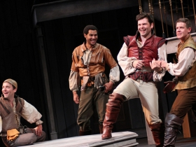Chris Klopatek, Cordell Cole, Nate Burger, Jeb Burris and Christopher Sheard in Romeo and Juliet, 2014.