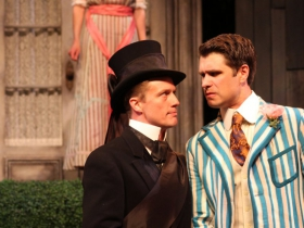 Kelsey Brennan, Matt Schwader and Marcus Truschinski in The Importance of Being Earnest, 2014.