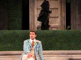 Marcus Truschinski and Matt Schwader in The Importance of Being Earnest, 2014.