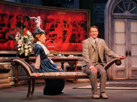 Cristina Panfilio and Matt Schwader in The Importance of Being Earnest, 2014.