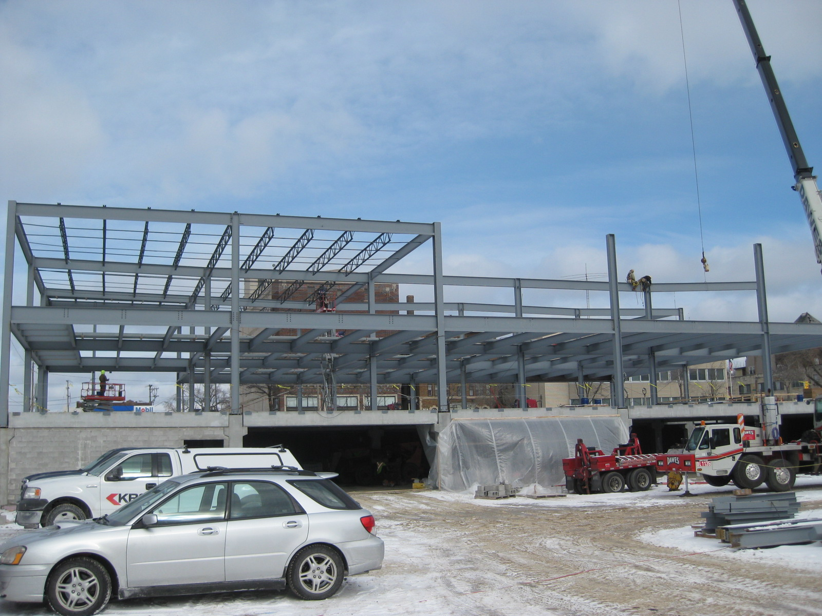 State of Wisconsin Department Of Children and Families office building under construction.