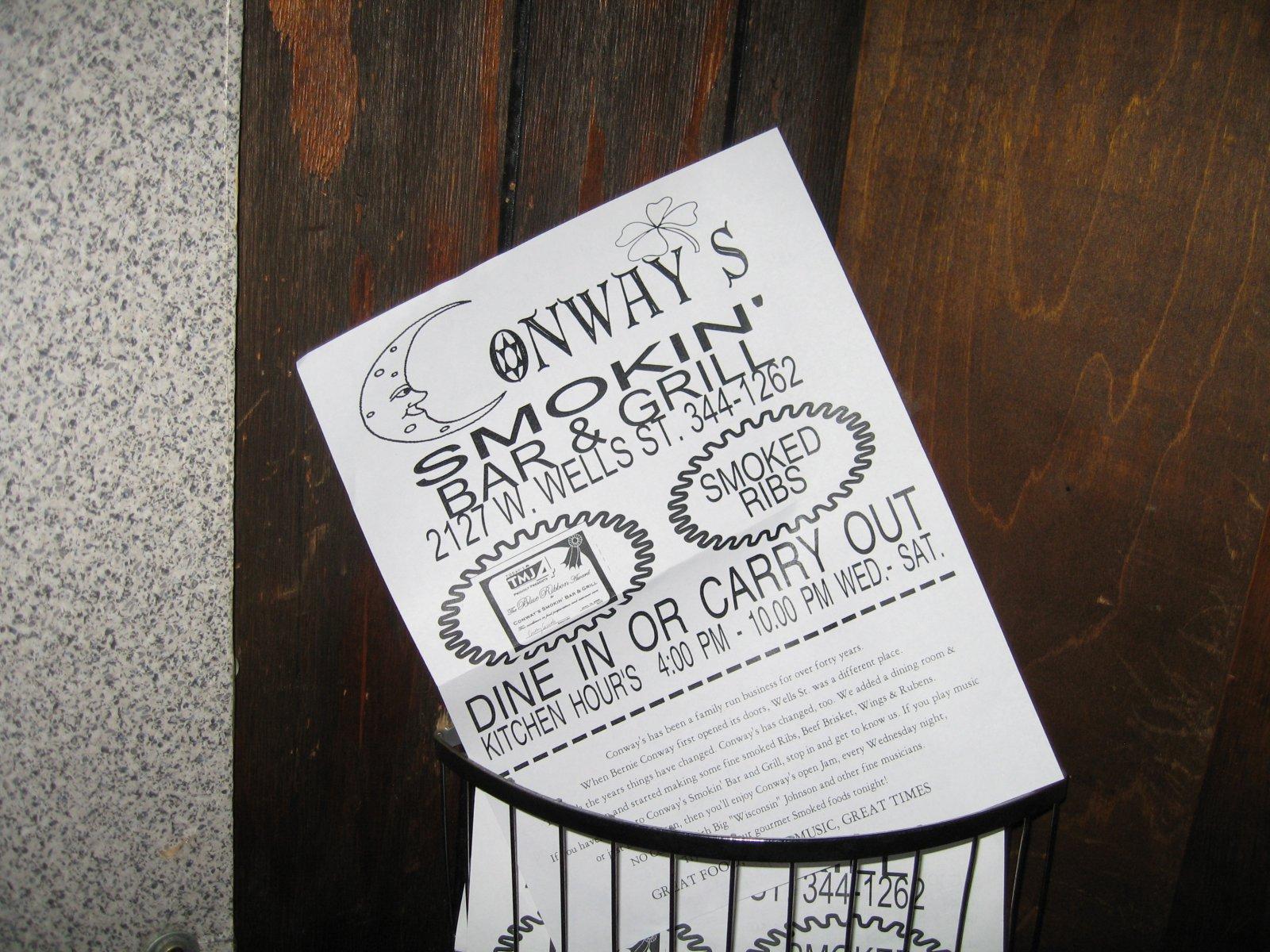 Conway\'s menu