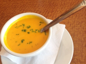 On the Menu at Envoy: Carrot-Dill Soup
