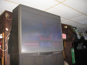 Big, old TV