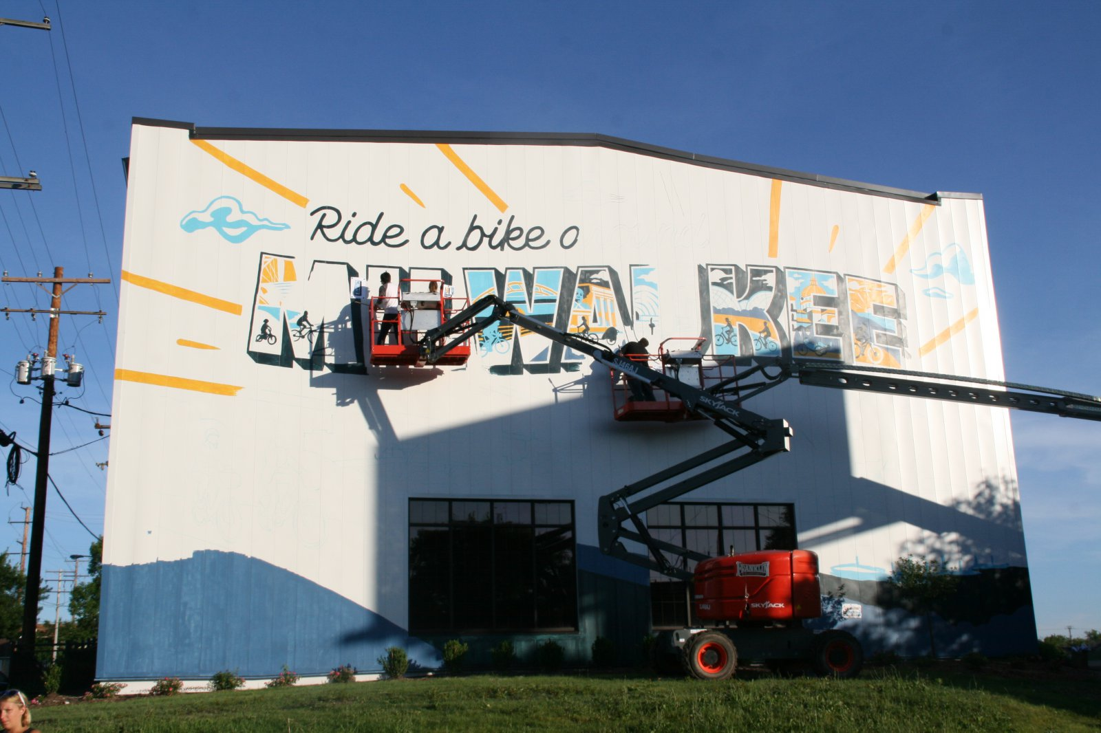 Ride a Bike Around Milwaukee Mural