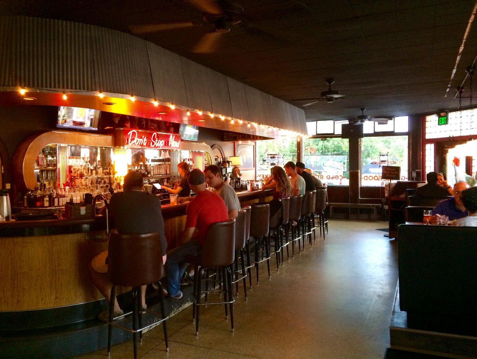 The bar at the Palomino