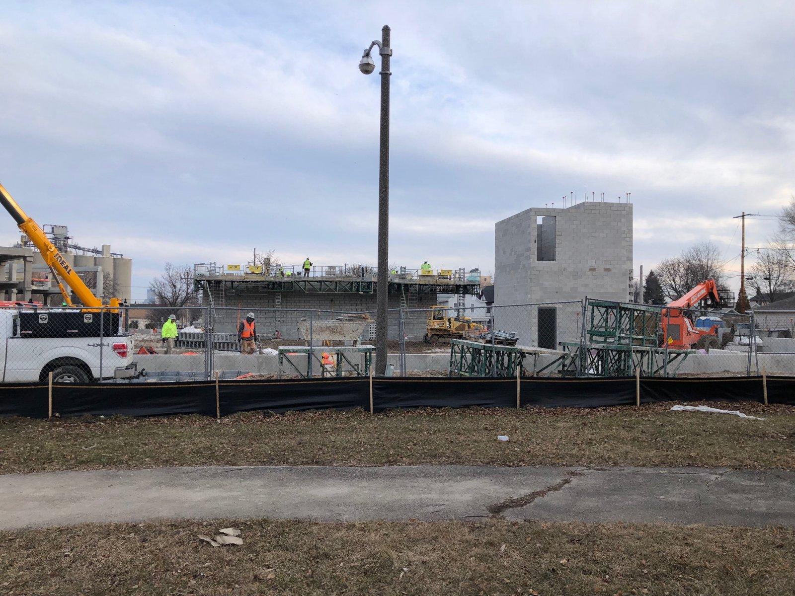 Construction of KinetiK on Kinnickinnic Ave.