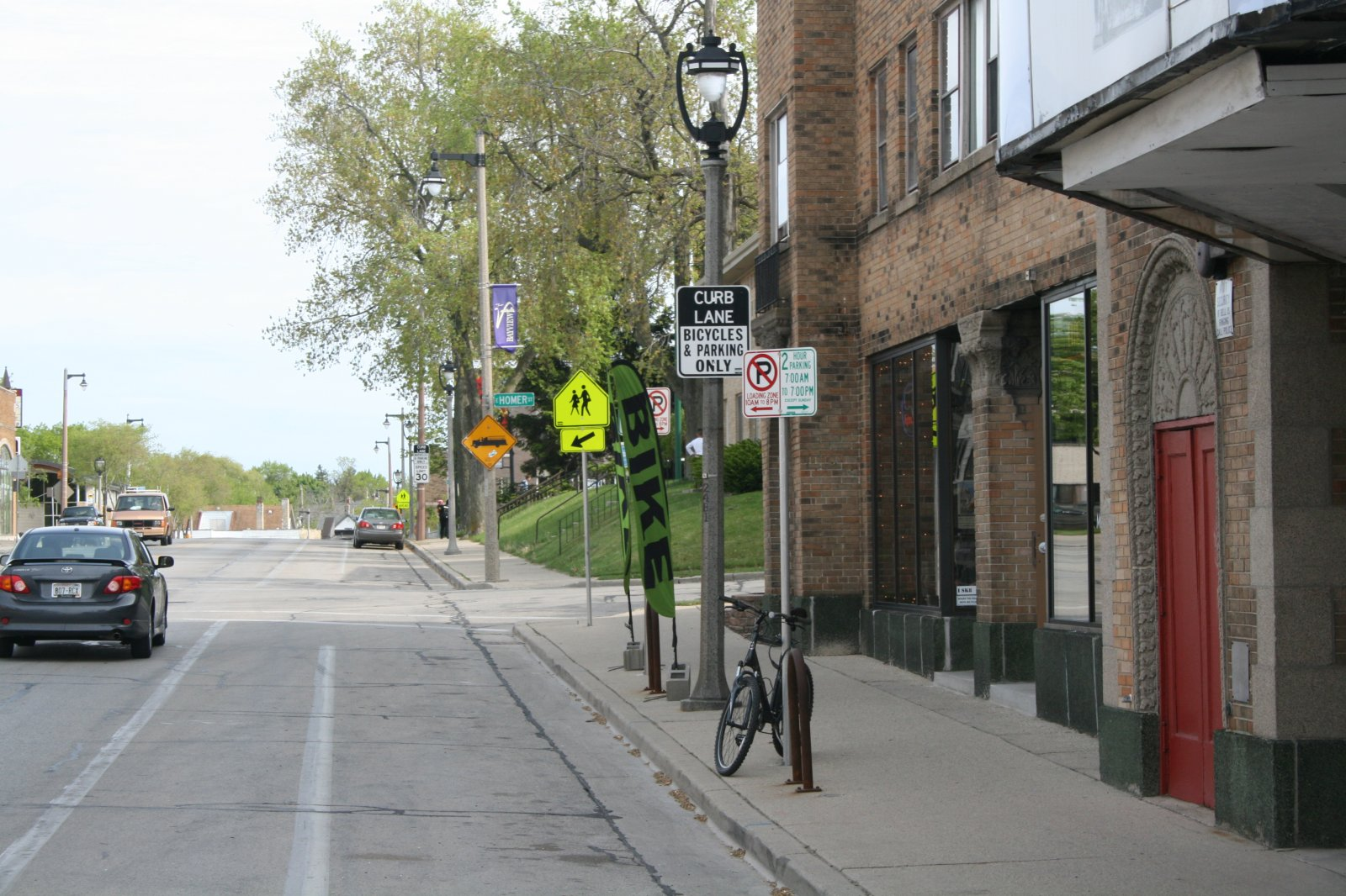 A view down S. Kinnickinnic Ave.