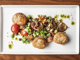 Goodkind:  Spice Crusted Scallops