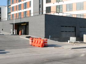 Tribute Apartments Parking Entrance