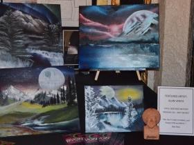 Alan Vento's art at the Avalon Theater