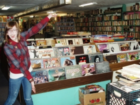 Vinyl lovers can find plenty to please their ears, as Troka demonstrates. Photo by Peggy Schulz.