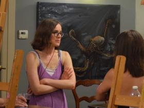 Co-found Lisa Pilarski (L) at The Art School