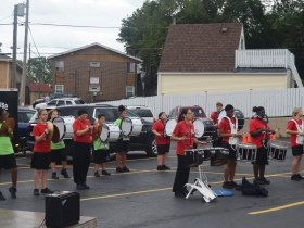 Drum line at the Bay View Bash 2019