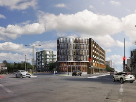 Rendering of proposed apartment building at 2130 S. Kinnickinnic Ave.