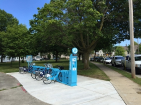 Bublr station in Zillman Park