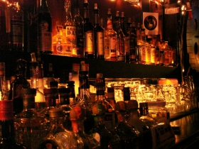 Liquor at Blackbird Bar.