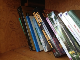 Books inside Little Free Library #1082