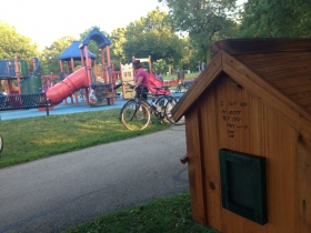Little Free Library in South Shore Park.