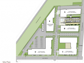 Site Plan for former Sweet Water Organics site.