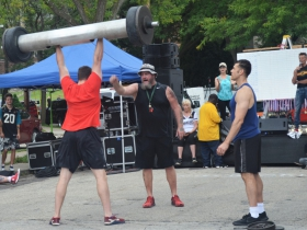 Strongman competition at Bay View Bash 2019