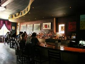 The bar top.