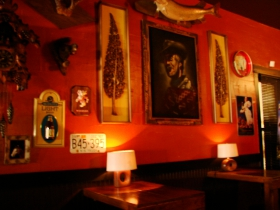 Interior of the Blackbird Bar. Photo