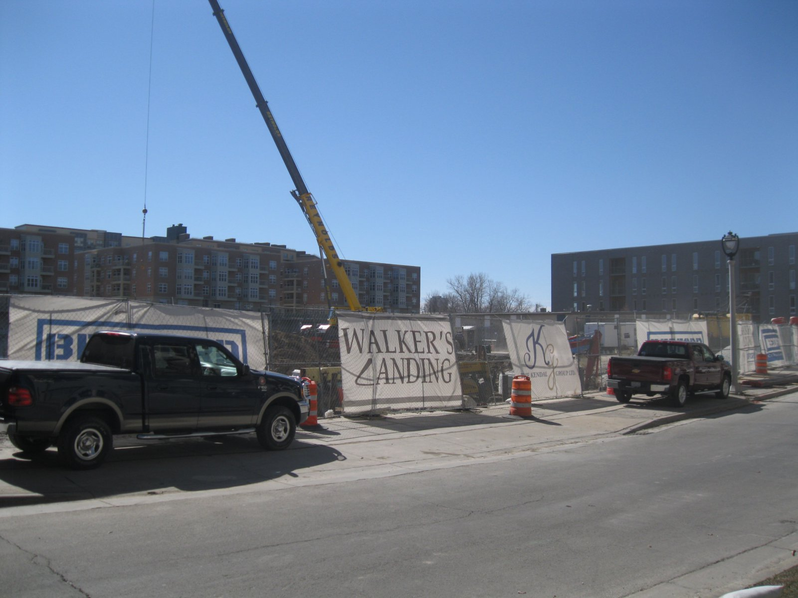 Walker\'s Landing is under construction.