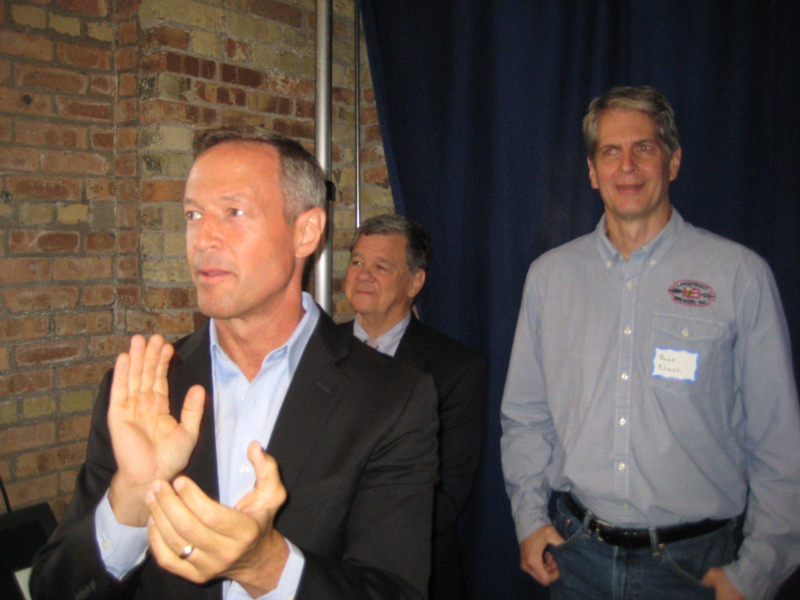 Martin O\'Malley and Russ Klisch.