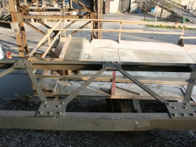 Marsupial Bridge trestle stair under construction.