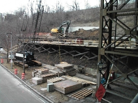 Marsupial Bridge Stairway Construction Project. Photo by Michael Horne.
