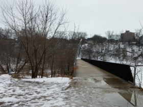 Bridge over the former North Avenue Dam