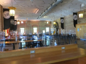 A nearly deserted Lakefront Brewery
