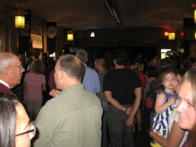 Crowd at the Burke fundraiser.