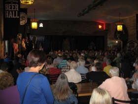 A large crowd at the Burke fundraisers.