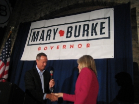 Maryland Governor Martin O'Malley and Mary Burke.