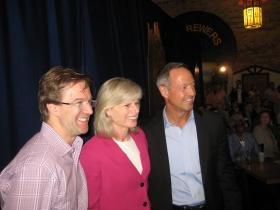 Chris Abele, Mary Burke, and Maryland Governor Martin O'Malley.