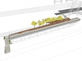 Marsupial Bridge Trestle Stair Rendering