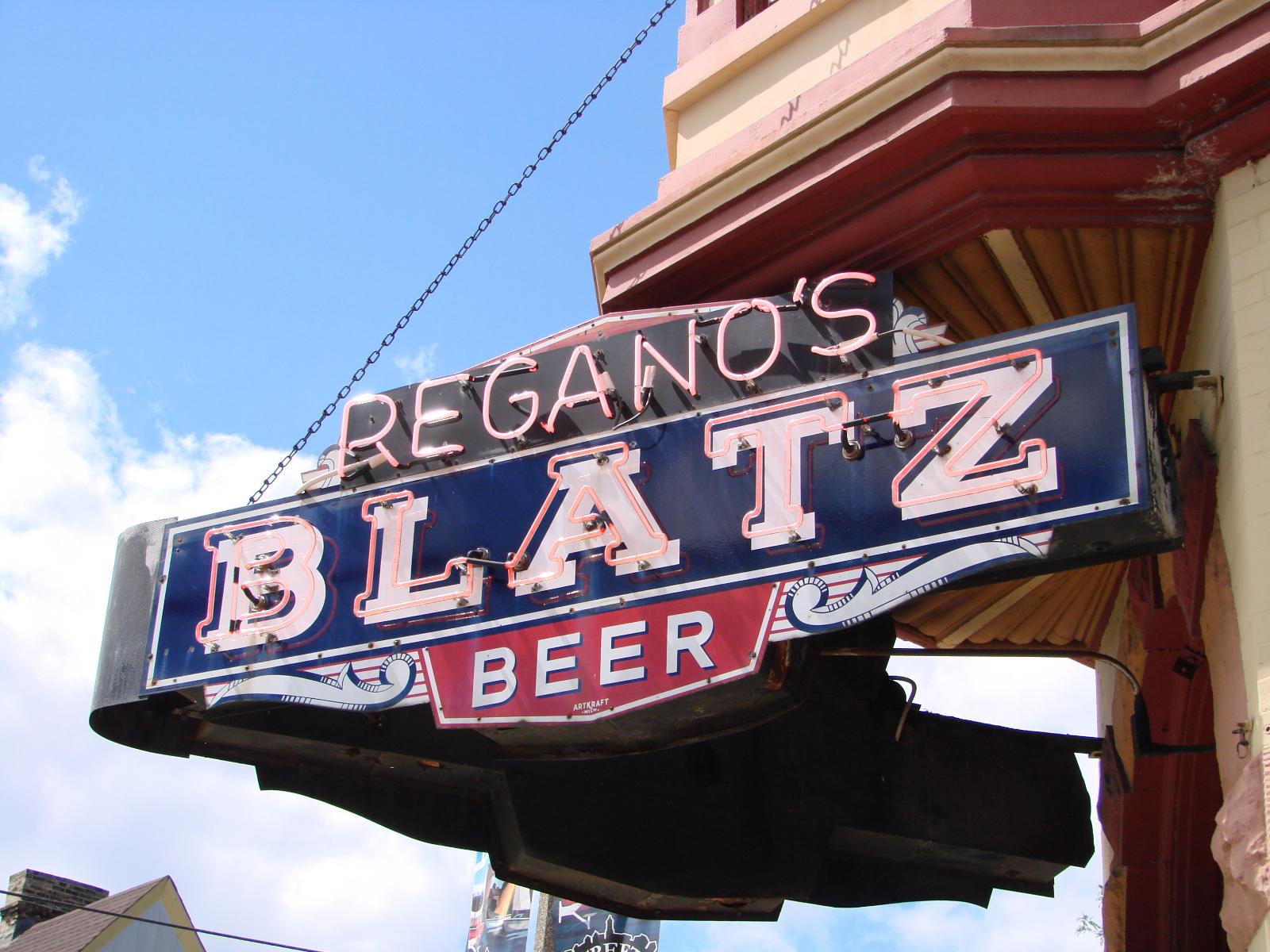 Blatz sign.