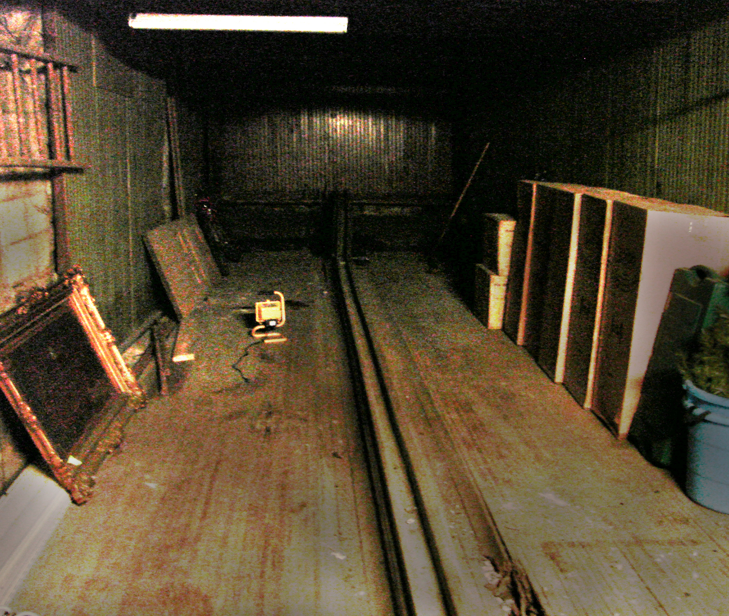 Bowling lanes from the 1890s.