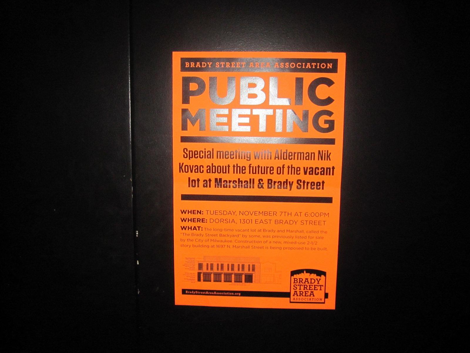 Public Meeting Sign