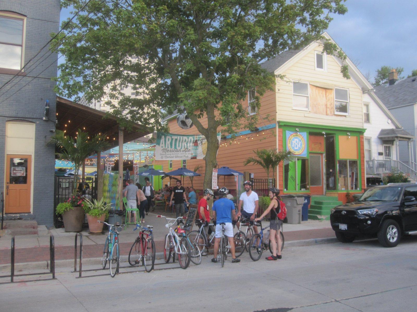 The Nomad World Pub\'s patio