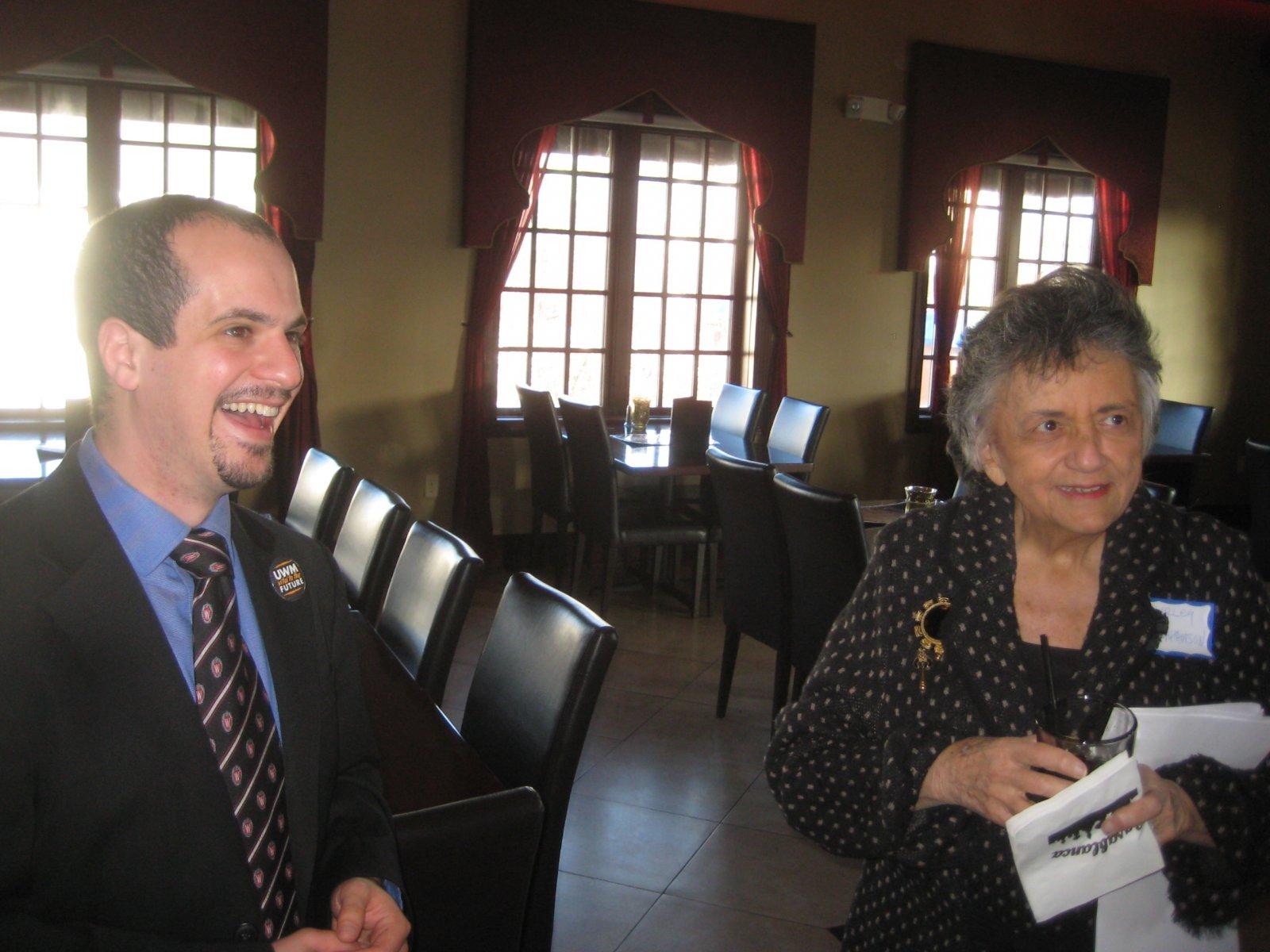 Jonathan Brostoff and Shirley Abrahamson