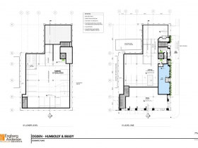 Brady Street Apartment Plan Basement and First Floor.